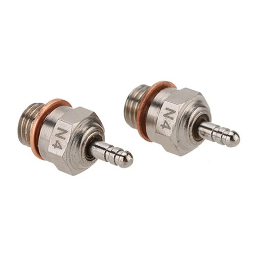 2 Pcs 70117 N4 Glow Plug Spark Plug for 1/10 HSP RC Car