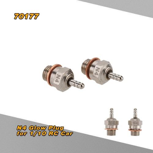 2 Pcs 70117 N4 Glow Plug Spark Plug for 1/10 HSP RC Car