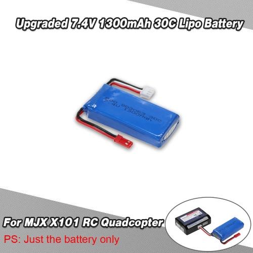 Aggiornato 7.4 v 1300mAh 30C Lipo Batteria per MJX X 101 Quadcopter del RC