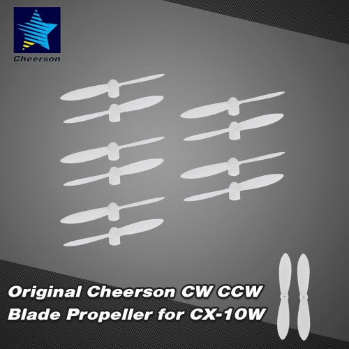 5Pairs Original Cheerson CW CCW Propeller Blade dla CX-10A-10C CX CX-10W CX-10D CX-10 CX-10WD GoolRC T10 RC Quadcopter