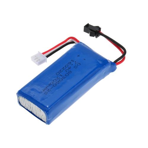 Original JJR / C H26-012 7.4V 1200mAh SM Plug Lipo Batteria per JJR / C H26 RC Quadcopter