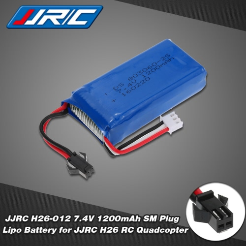 Original JJRC H26-012 7.4V 1200mAh SM Plug Lipo Battery for JJRC H26 RC Quadcopter