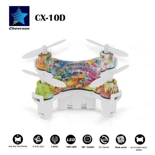 360 ° フリップと高さ元 Cheerson CX-10 D 4 ch RTF ミニ RC 6 軸ジャイロ Quadcopter ホールド機能