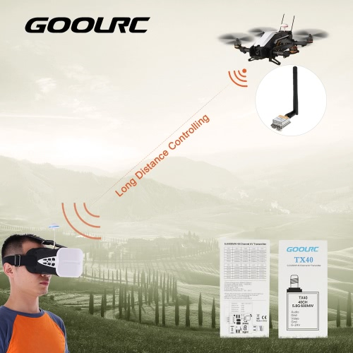 GoolRC 5.8G 600MW TX40 40CH AV Transmitter for QAV250 QAV280 Racing Quadcopter