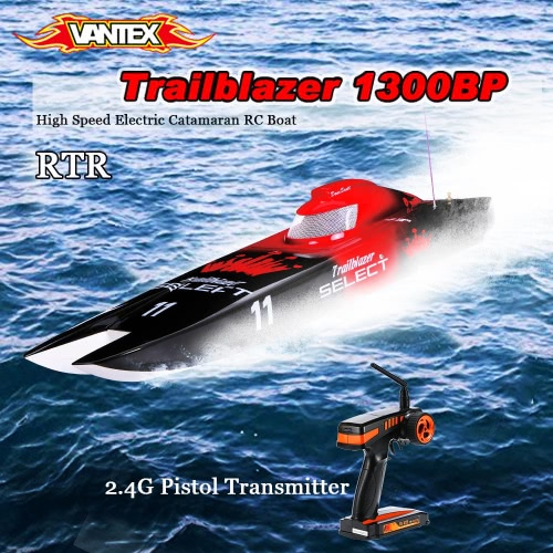 Original VANTEX Trailblazer 1300BP FS-GT2 2.4G Transmitter High Speed Electric Catamaran RC Boat