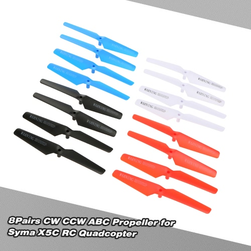 8Pairs CW CCW ABS Propeller Blade dla Syma X5C X5SC X5SW RC Quadcopter