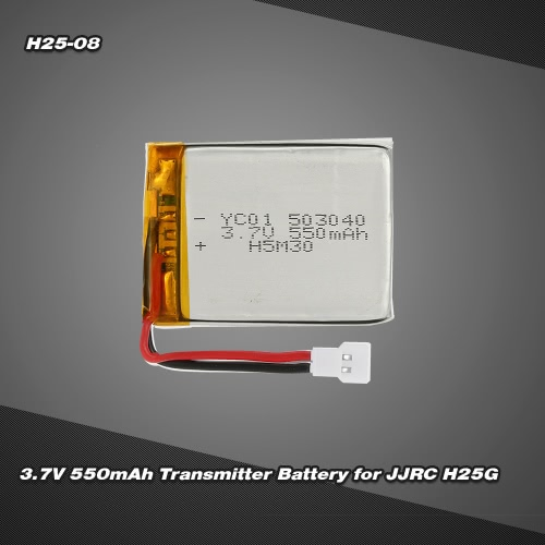 H25-08 3.7V 550mAh Transmitter Battery for JJRC H25 H25G RC Quadcopter
