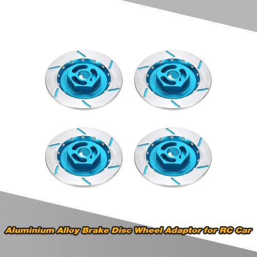 4pcs aleación de aluminio de disco de frenos de la rueda Adaptador para Adecuado para 1/10 Off-Road Buggy Monster Truck Short Course on-carretera plana del coche de RC