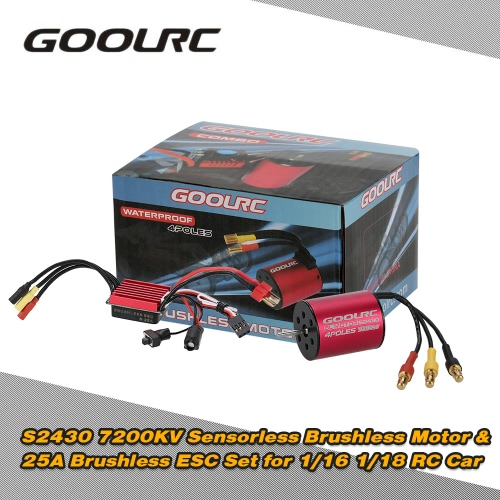 Original GoolRC S2430 7200KV Sensorless Brushless Motor und 25A Brushless Regler Combo Set für 1/16 1/18 RC Auto-LKW