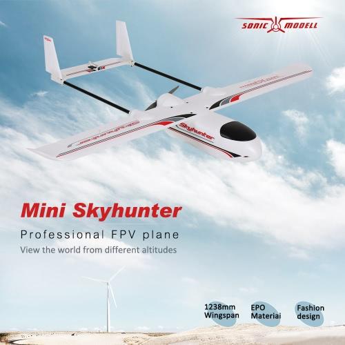 Original Sonicmodell Mini Skyhunter 1238mm Wingspan EPO FPV RC Fixed-wing Airplane PNP Version with ESC Motor Servo