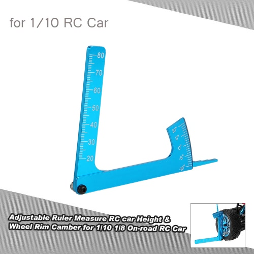 Adjustable Ruler Measure RC car Height & Wheel Rim Camber for 1/10 1/8 On-road RC Car