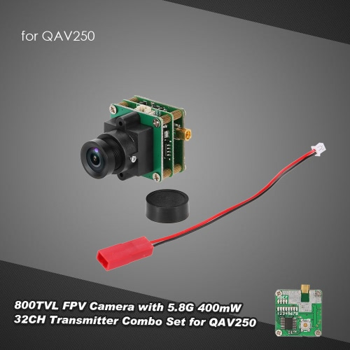 800TVL PAL FPV Camera with 5.8G 400mW 32CH Transmitter Combo Set for QAV250 280 RC Quadcopter Drone