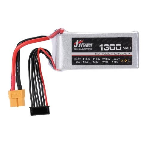 JHpower 22.2V 1300mAh 25C Batterie LiPo 6S avec fiche XT60 pour RC Trex 450 Pompes à hélicoptère Voiture Bateau Avion