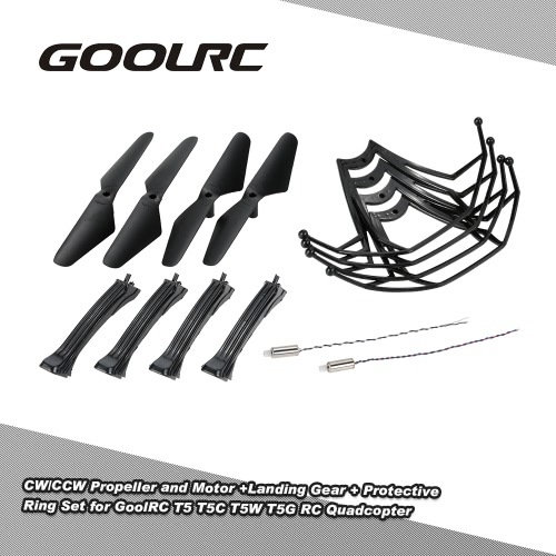 Original GoolRC T5 Part CW/CCW Propeller +Landing Gear + CW/CCW Motor + Protective Ring Set for GoolRC T5 T5C T5W T5G RC Quadcopter