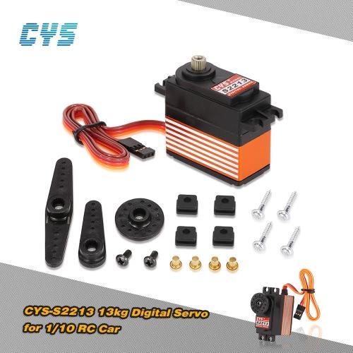 Original CYS-S2213 13kg Titanium Gear Digital 6V-7.4V 0.14s-0.12s/60° HV Servo for 1/10 RC Car