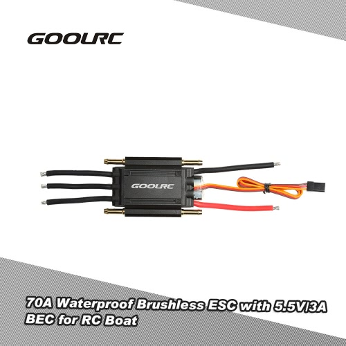 Ursprüngliche GoolRC 70A Waterproof Brushless Elektronische Regler ESC mit 5.5V / 3A BEC für RC Boot