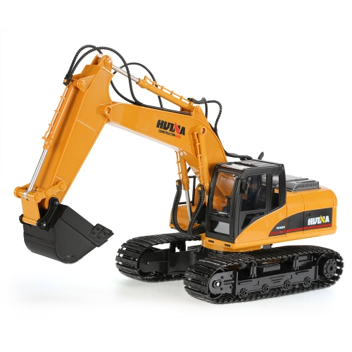 Original HUINA TOYS 2.4GHz 15CH Engineering Electric Excavator Construction Truck RC Car Plastic Version