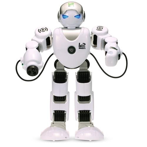 LE NENG GIOCATTOLI K1 intelligente programmabile Humaniod 2.4G Robot Telecomando con tiro Musica Danza Braccio-swing Funzione