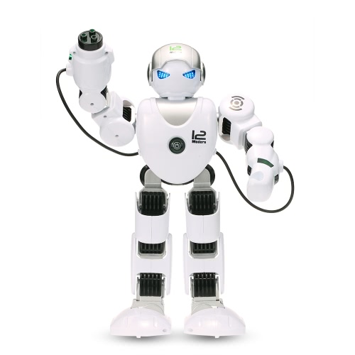 LE NENG TOYS K1 Intelligente programmierbare Humaniod 2.4G Fernbedienungsroboter mit Shoot Music Dance Arm-Swing Funktion