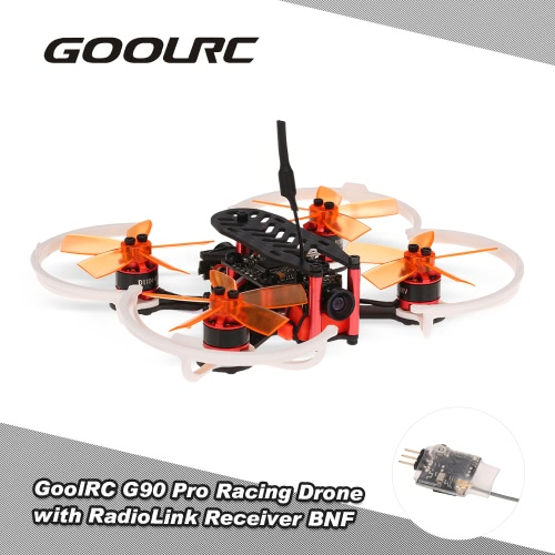 GoolRC G90 Pro 90mm 5.8G 48CH Micro FPV Racing Drone Brushless Motor Quadcopter w/ RadioLink Receiver F3 Flight Controller BNF