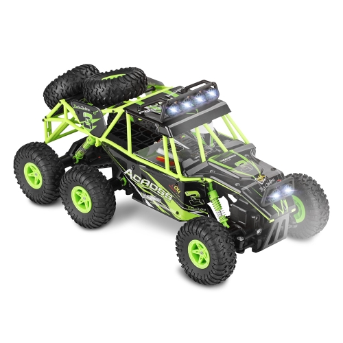 Original Wltoys 18628 1/18 2.4G 6WD Électrique Off-Road Rock Crawler Escalade RC Buggy Car RTR