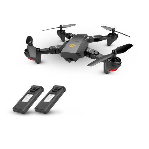 VISUO XS809HW Wifi FPV 2.0MP 120 ° FOV Grand Angle Pliable Selfie Drone Hauteur Tenir RC Quadcopter G-Capteur RTF Extra Batterie
