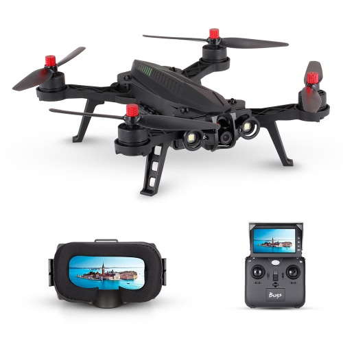 MJX Bugs 6 B6 720P Camera 5.8G FPV Drone 250mm High Speed Brushless Racing Quadcopter with G3 Goggles