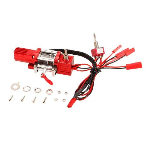 Metalowa stalowa okablowana automatyczna symulowana wciągarka z przełącznikiem 1/10 Traxxas HSP Redcat HPI TAMIYA CC01 Axial SCX10 RC4WD D90 RC Rock Crawler