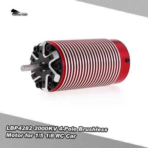 LEOPARD HOBBY LBP4282 2000KV 4-Pole Brushless Motor for 1/5 1/8 Traxxas HSP Redcat RC4WD Tamiya Axial HPI RC Car