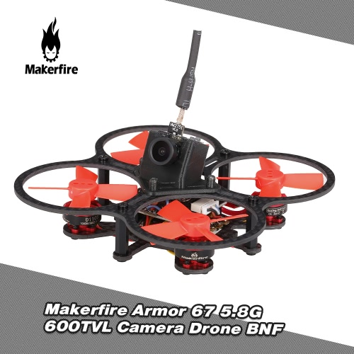 Makerfire Armor 67 67mm 5.8G 600TVL Camera Brushless Micro FPV Racing Drone Quadcopter with F3 OSD FrskyXM Receiver BNF