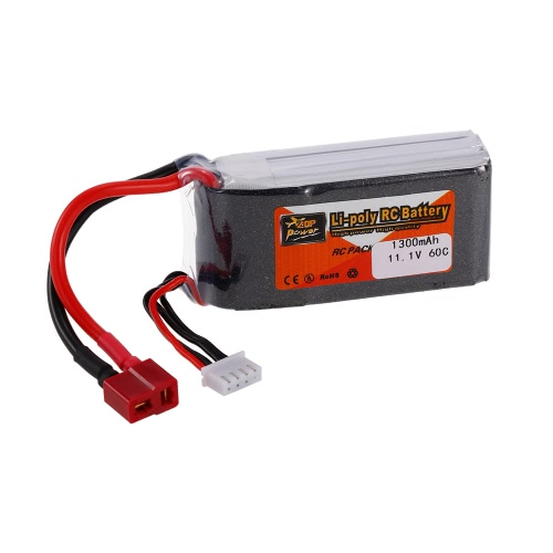 ZOP Power 3S 11.1V 1300mAh 60C Alta velocità LiPo Batteria T plug