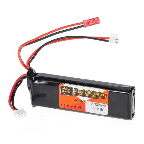 ZOP Power 2S 7.4V 2200mAh 8C LiPo Battery JST Plug