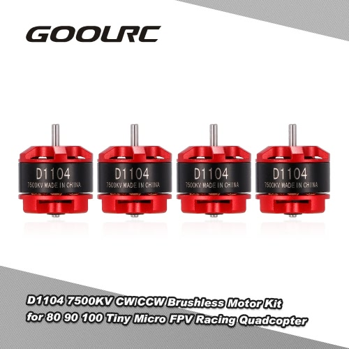 GoolRC D1104 7500KV Brushless Motor Kit for 80 90 100 Tiny Micro FPV Racing Quadcopter
