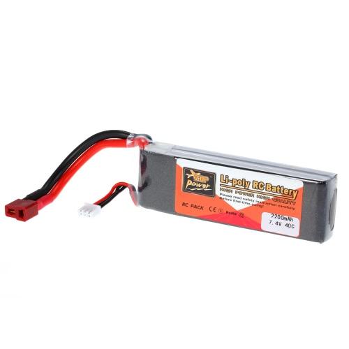 ZOP-Energie 2S 7.4V 2200mAh 40C LiPo Batterie-T-Stecker