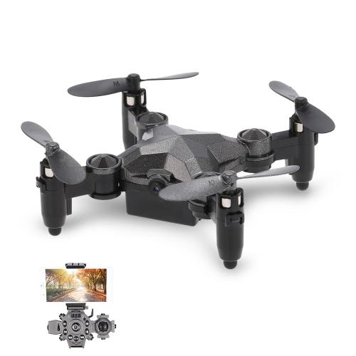 DH-800 2.4G 0.3MP Wifi FPV Mini caméra Drone Hauteur Hold G-sensor Foldable Portable Watch Style Télécommande Quadcopter