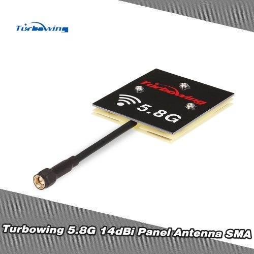 Turbowing 5.8G 14dBi Panel Antenna Flat Receiver Antenna SMA Male for Hubsan H501S H502S H107D JJRC H25G Drone