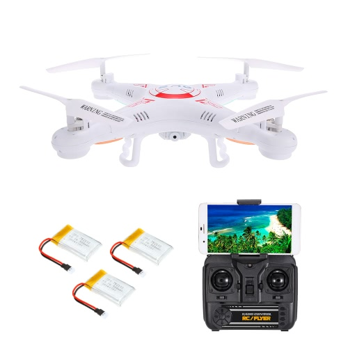 X5C-1 2.0MP Câmera WiFi FPV Drone 3D desliza modo sem cabeça One Key Return G-sensor Quadcopter w / Two Extra Battery RTF
