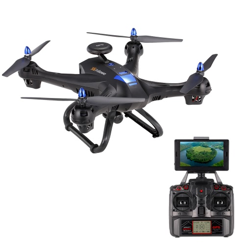 X183GPS Suivez Double GPS 2.0MP HD Camera 5.8G FPV Drone Suivez-moi Orbit Mode Height Holding Quadcopter