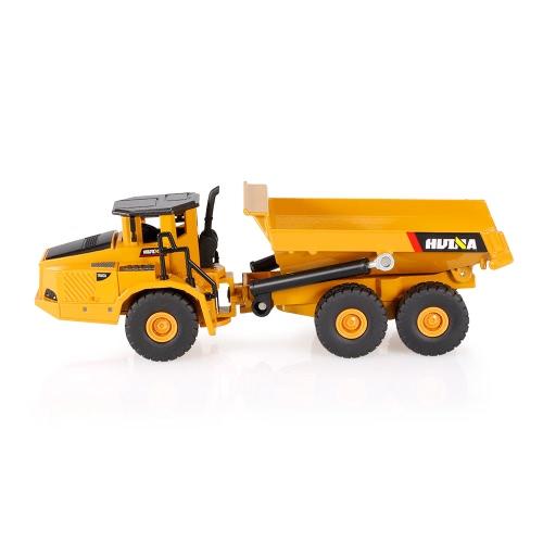 HUI NA TOYS 1712 1/50関節式ダンプトラックエンジニアリング車両子供おもちゃギフトハウジングデコレーションコレクション