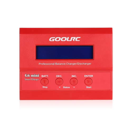 GoolRC G6 mini Professional Balance Charger/Discharger for RC Aircraft LiHV LiPo LiIon LiFe NiCd NiMH