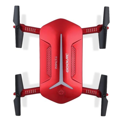 GoolRC T37 Mini 2.4G 6-Axis Gyro WIFI FPV 720P HD Camera Quadcopter Foldable G-sensor RC Selfie Pocket Drone Two Extra Battery RM8808-2