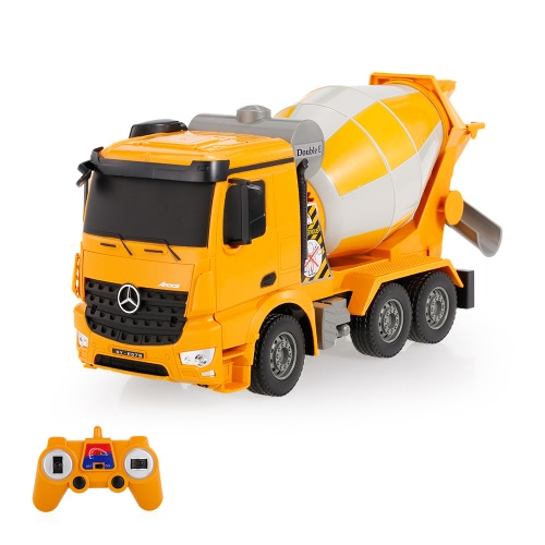 2.4G 1/26 RC Cement Mixer Truck RTR Radio Control Car LED Light