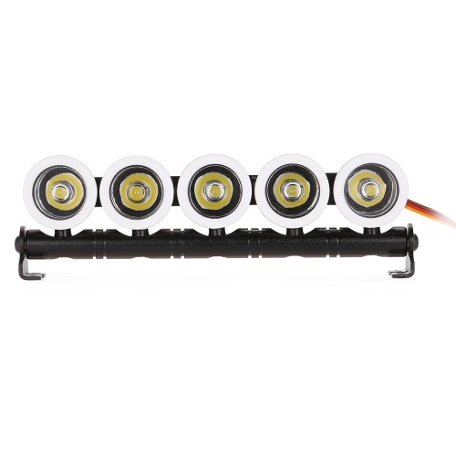 Austar AX521W Multi-function Ultra Bright LED 5 Spotlights for SCX10 90046 D90 TRX-4 Model Crawler RC Car