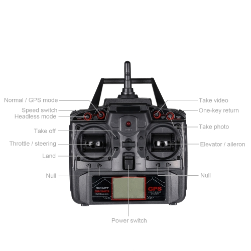 XINLIN X191 2.4G 4CH 2.0MP HD Camera Wifi FPV Selfie Drone GPS RTH Height Hold RC Quadcopter