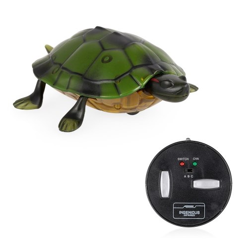 Infrared Remote Control Simulation Tortoise Toy Mini RC Animal Christmas Present Gift for Kids