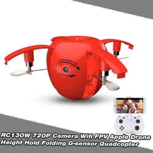 Original RC LEADING RC130W 720P Camera Wifi FPV Apple Drone Height Hold Folding Selfie G-sensor Quadcopter