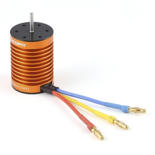 OCDAY 10T 3930KV 4 Poles Sensorless Brushless Motor for 1/10 RC Car Truck Boat