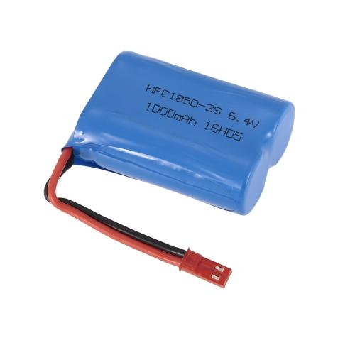 Batterie au lithium originale WLtoys 6.4V 1000mAh pour WLtoys A333 A323 A313 A303 GoolRC C12 voiture RC Monster Truck