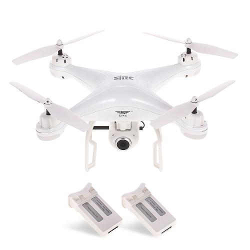 SJ R / C S20W 1080P (GPS) WIFI FPV RC Drone Quadcopter RTF con due batterie