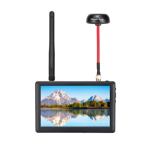 HawkEye Little Pilot 3 5.8G Monitor FPV z różnorodnością Dual Receiver dla RC Racing Quadcopter Drone